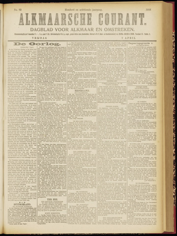 Alkmaarsche Courant 1916-04-07