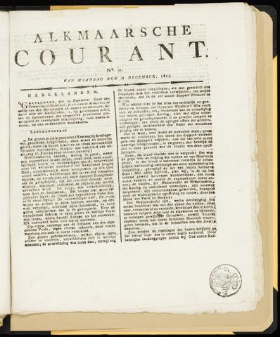 Alkmaarsche Courant 1815-12-18