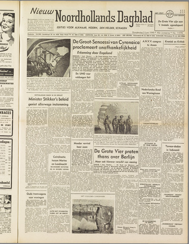 Nieuw Noordhollandsch Dagblad : voor Alkmaar en omgeving 1949-06-02