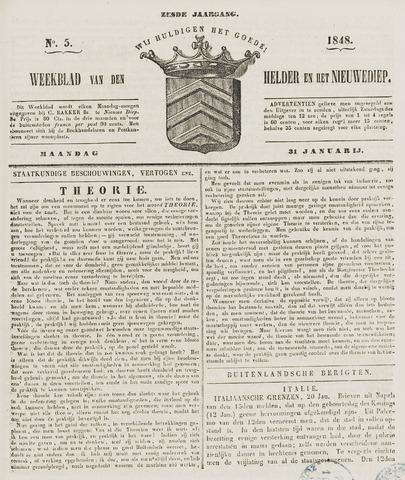 Weekblad van Den Helder en het Nieuwediep 1848-01-31