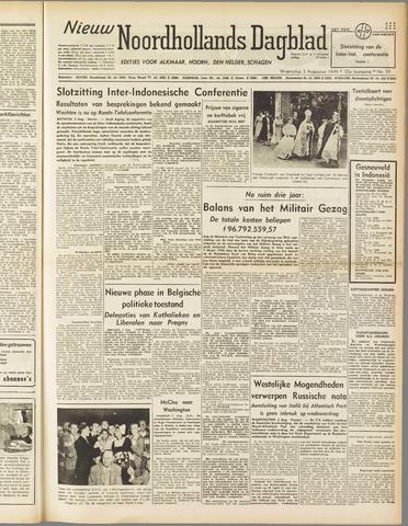 Nieuw Noordhollandsch Dagblad : voor Alkmaar en omgeving 1949-08-03