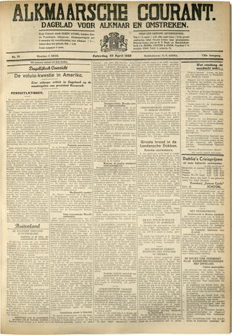 Alkmaarsche Courant 1933-04-22