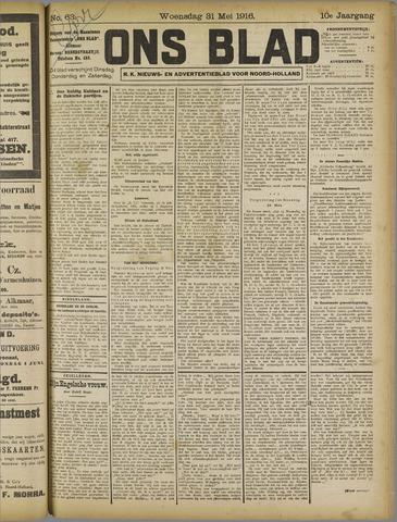 Ons Blad : katholiek nieuwsblad voor N-H 1916-05-31