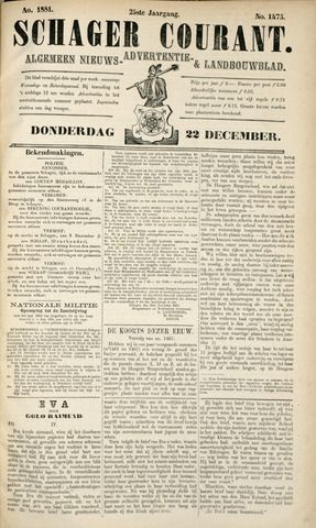 Schager Courant 1881-12-22