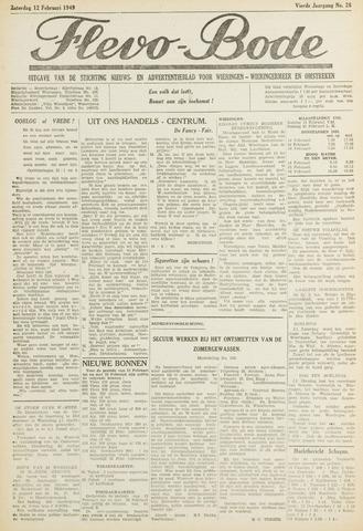 Flevo-bode: nieuwsblad voor Wieringen-Wieringermeer 1949-02-12