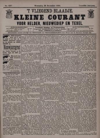 Vliegend blaadje : nieuws- en advertentiebode voor Den Helder 1884-12-24