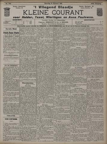 Vliegend blaadje : nieuws- en advertentiebode voor Den Helder 1909-02-27