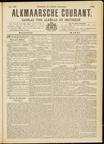 Alkmaarsche Courant 1906-06-18