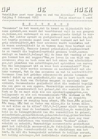 Op De Hoek, weekblad voor Akersloot 1963-02-08