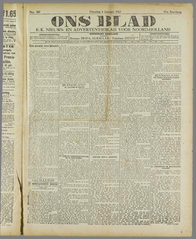 Ons Blad : katholiek nieuwsblad voor N-H 1921-01-04