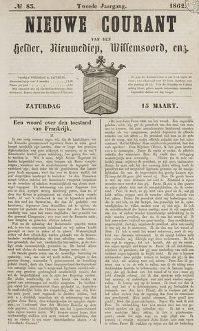Nieuwe Courant van Den Helder 1862-03-15