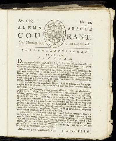 Alkmaarsche Courant 1809-08-07
