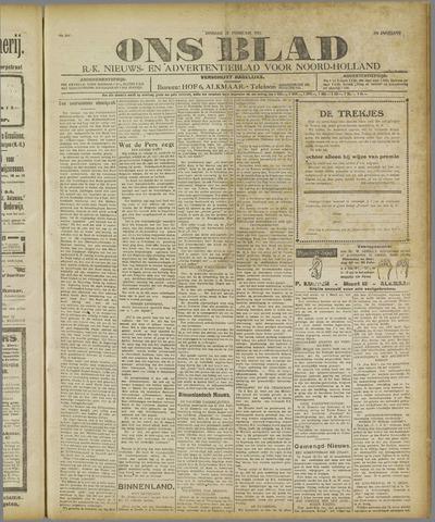 Ons Blad : katholiek nieuwsblad voor N-H 1921-02-22