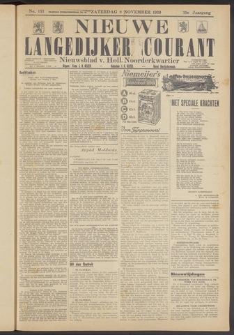 Nieuwe Langedijker Courant 1930-11-08