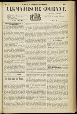 Alkmaarsche Courant 1892-07-20