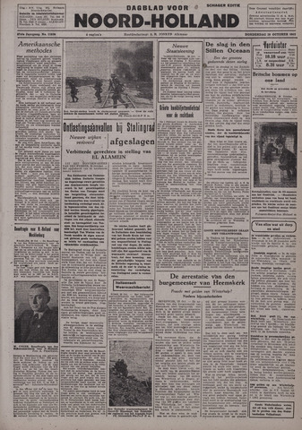 Dagblad Noord-Holland, Schager editie 1942-10-29