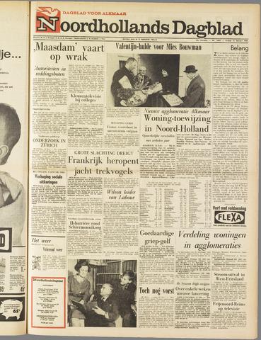 Noordhollands Dagblad : dagblad voor Alkmaar en omgeving 1963-02-15