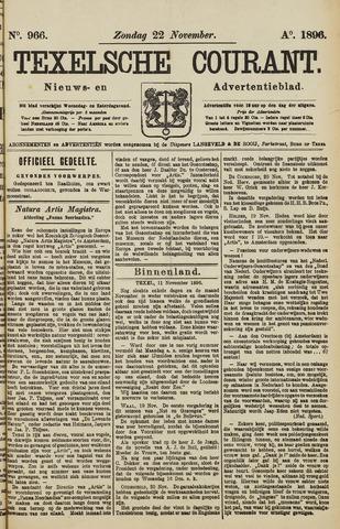 Texelsche Courant 1896-11-22