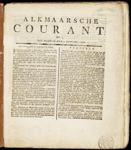Alkmaarsche Courant 1816-01-01