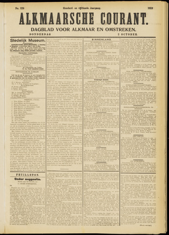 Alkmaarsche Courant 1913-10-02