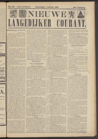Nieuwe Langedijker Courant 1925-10-01