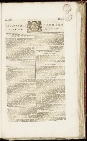 Alkmaarsche Courant 1831-11-21