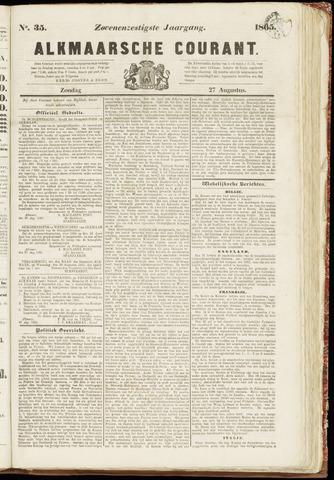 Alkmaarsche Courant 1865-08-27
