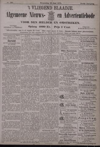 Vliegend blaadje : nieuws- en advertentiebode voor Den Helder 1875-06-23