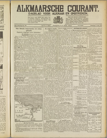Alkmaarsche Courant 1941-06-21