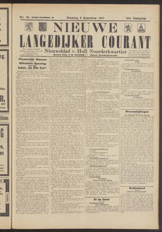Nieuwe Langedijker Courant 1927-08-09