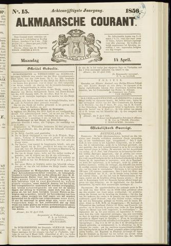 Alkmaarsche Courant 1856-04-14