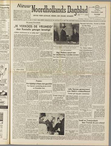 Nieuw Noordhollandsch Dagblad : voor Alkmaar en omgeving 1949-02-01