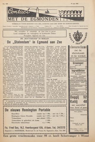 Contact met de Egmonden 1961-06-15