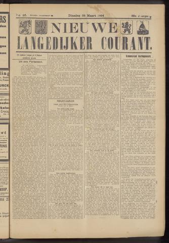 Nieuwe Langedijker Courant 1924-03-25