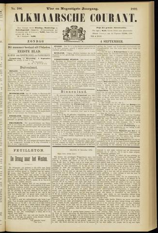 Alkmaarsche Courant 1892-09-04