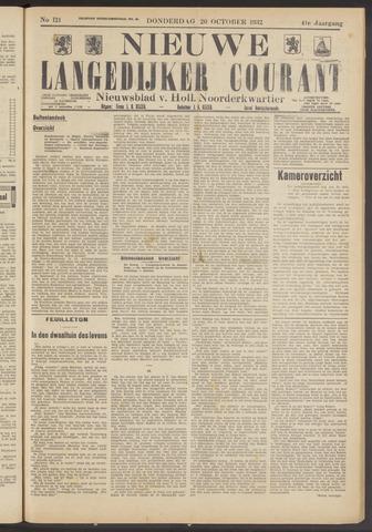 Nieuwe Langedijker Courant 1932-10-20