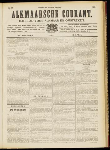 Alkmaarsche Courant 1910-04-14