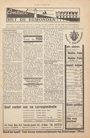 Contact met de Egmonden 1964-10-08