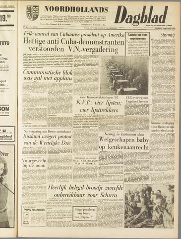 Noordhollands Dagblad : dagblad voor Alkmaar en omgeving 1962-10-09