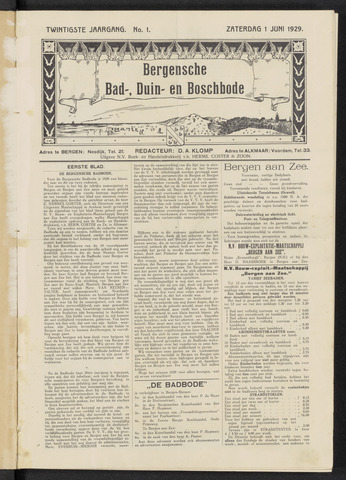 Bergensche bad-, duin- en boschbode 1929-06-01