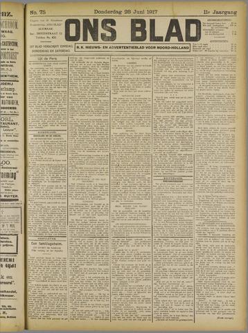 Ons Blad : katholiek nieuwsblad voor N-H 1917-06-28