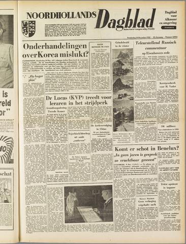 Noordhollands Dagblad : dagblad voor Alkmaar en omgeving 1953-12-10