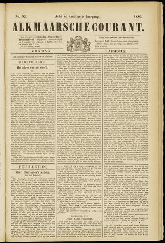Alkmaarsche Courant 1886-08-01
