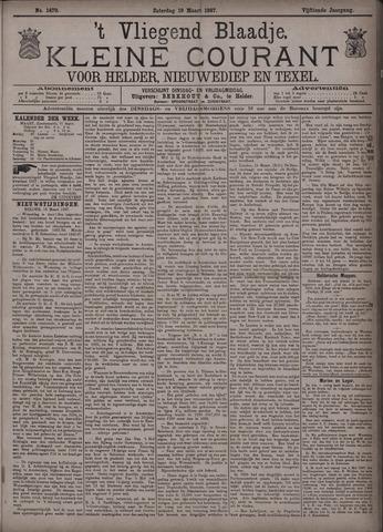 Vliegend blaadje : nieuws- en advertentiebode voor Den Helder 1887-03-19