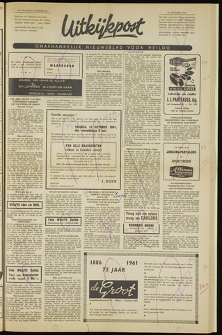 Uitkijkpost : nieuwsblad voor Heiloo e.o. 1961-10-12