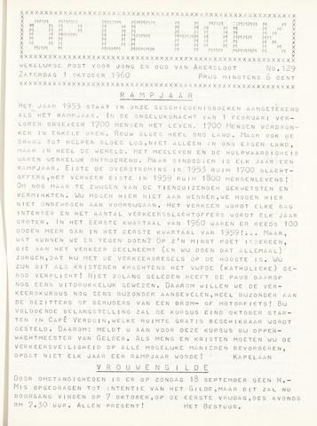 Op De Hoek, weekblad voor Akersloot 1960-10-01