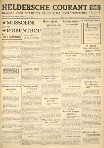 Heldersche Courant 1940-03-11