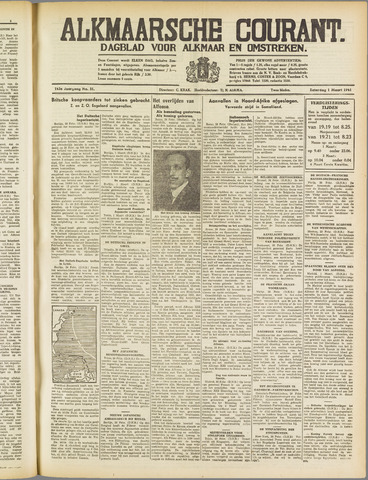 Alkmaarsche Courant 1941-03-01