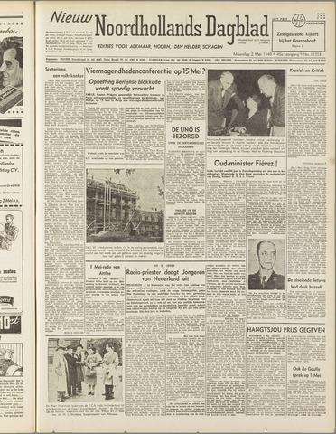 Nieuw Noordhollandsch Dagblad : voor Alkmaar en omgeving 1949-05-02
