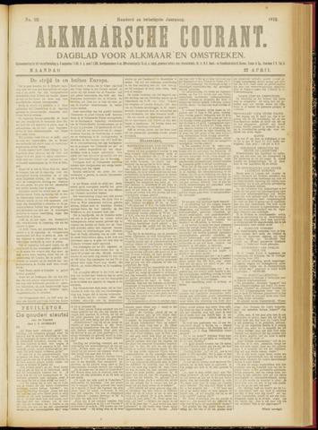 Alkmaarsche Courant 1918-04-22